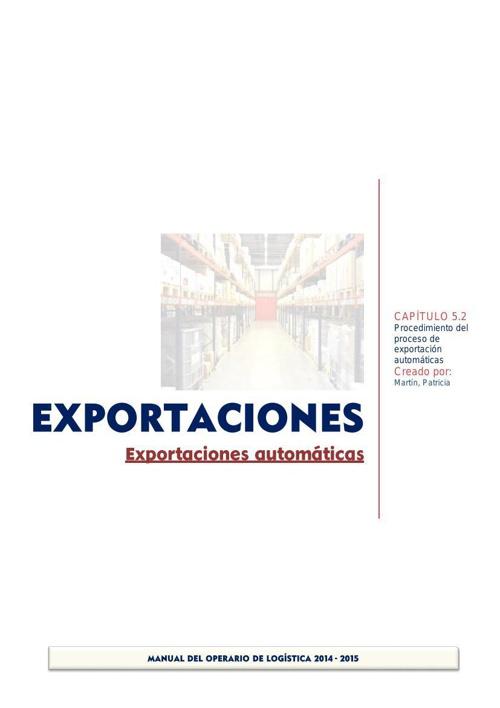 5.2 Exportaciones autómaticas