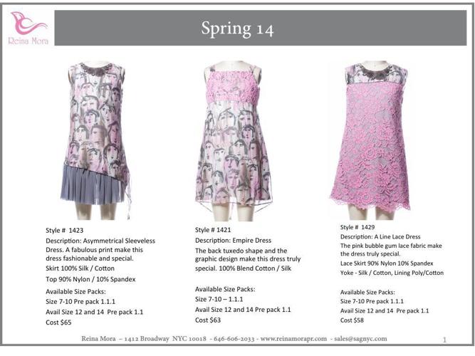 Reina Mora Spring 14 Look Book