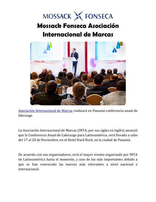 Mossack Fonseca Asociación Internacional de Marcas