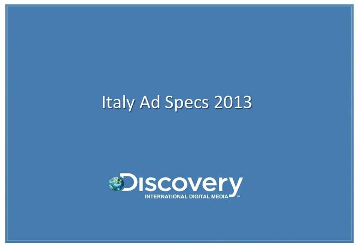 Creative Specs Italy 2013