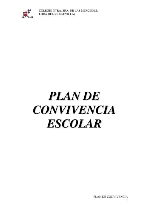PLAN DE CONVIVENCIA COLEGIO LORA DEL RÍO