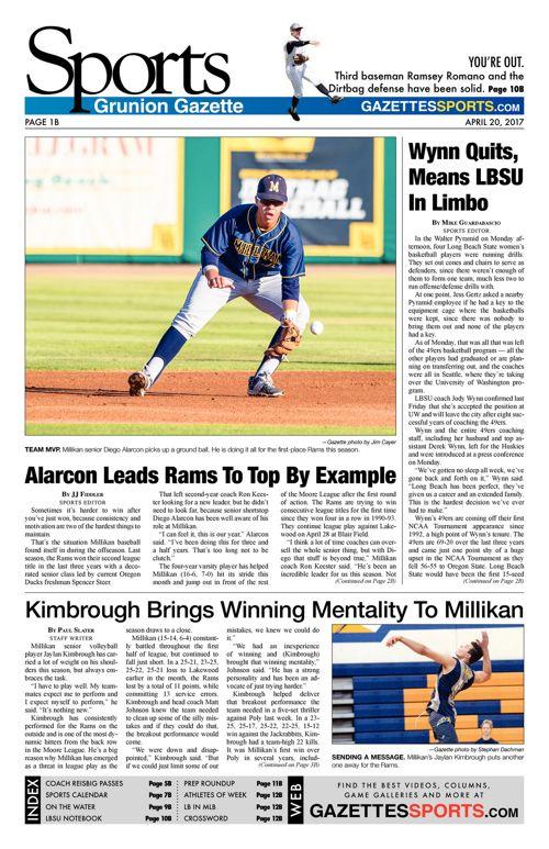 Gazette Sports  |  April 20, 2017