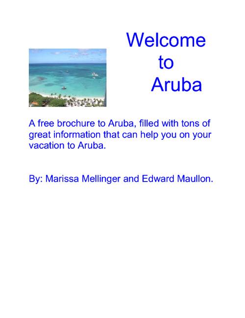 Aruba Brochure