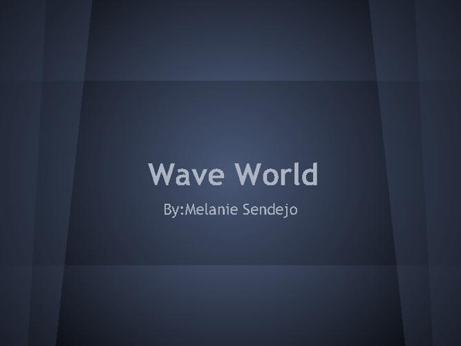 Selling Waves Melanie Sendejo