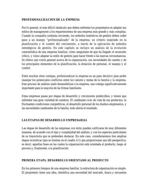 PROFESIONALIZACION DE LA EMPRESA FAMILIAR