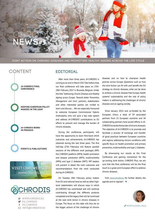 JA-CHRODIS Newsletter