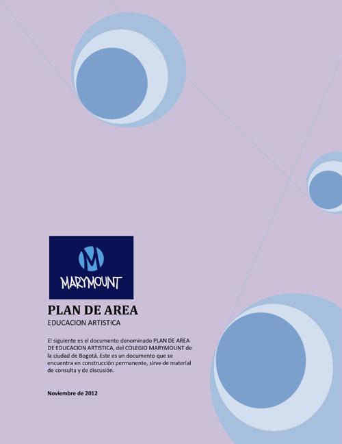 PLAN DE REA DE EDUCACION ARTISTICA 2012