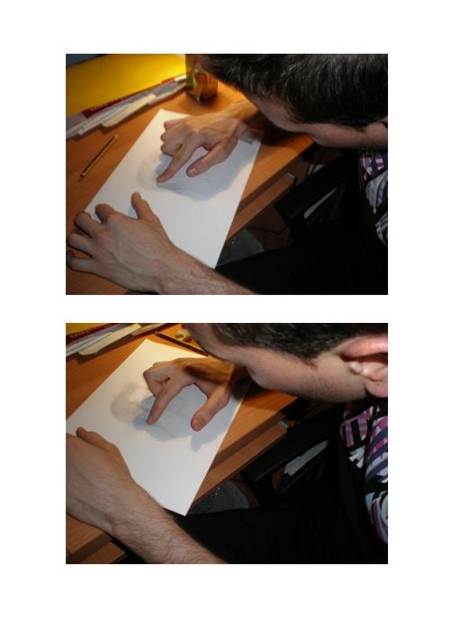 Dibujo del perfil de un rostro con sombras