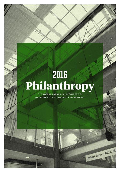 2016 Philanthropy — UVM Larner College of Medicine