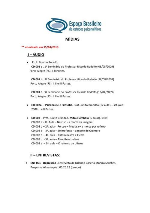 EBEP - Lista - Mídia