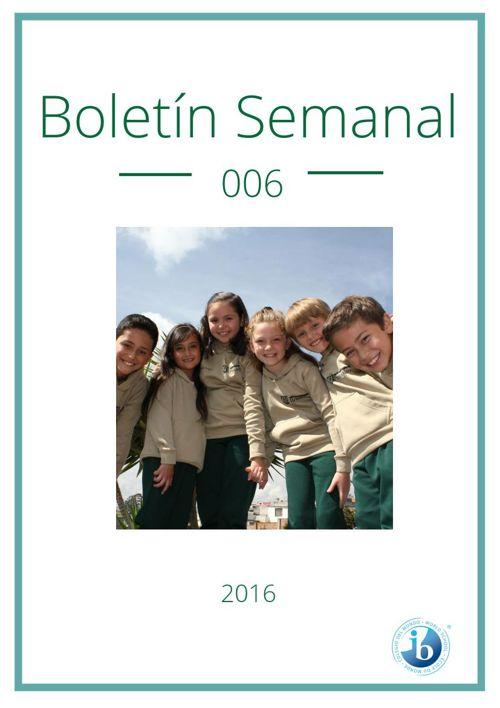 Boletín Semanal 006