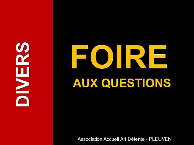 Foire Aux Questions 2010-2011 - Classement par chapitre