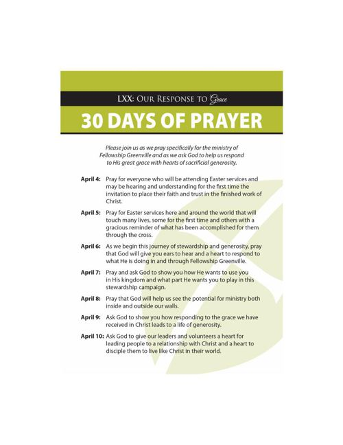 Copy of 30 Days Of Prayer