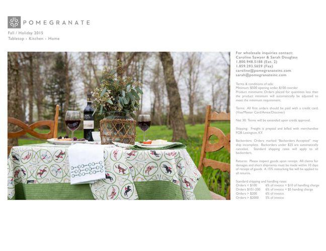 Pomegranate - Fall Table/Home 2015