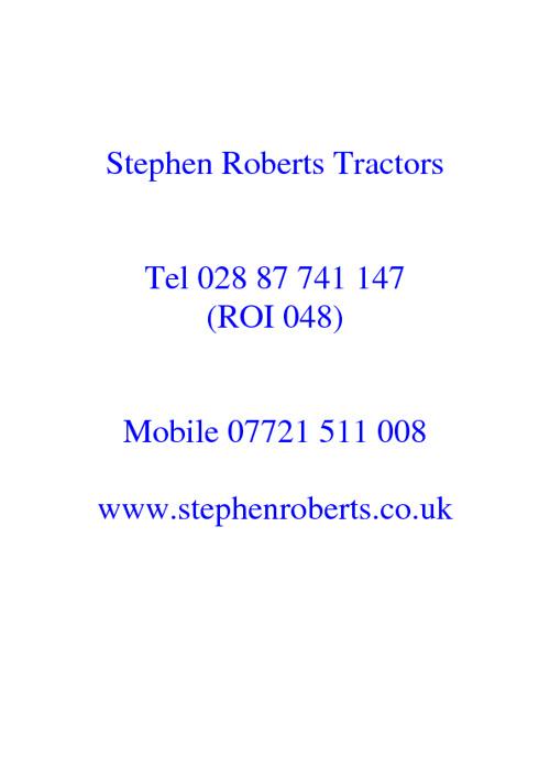Stephen Roberts Tractors
