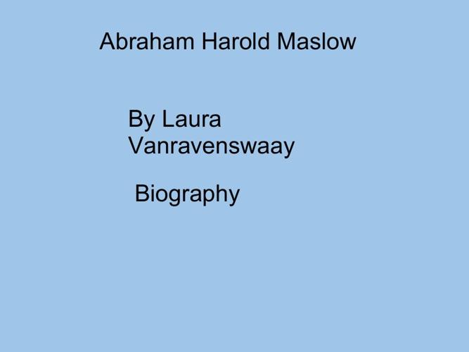 p. 5 VanRavenswaay Maslow