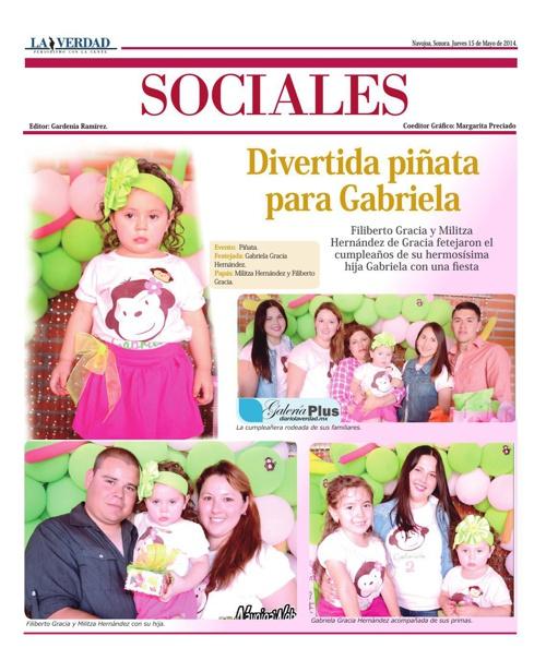 SOCIALES 15 de Mayo de 2014