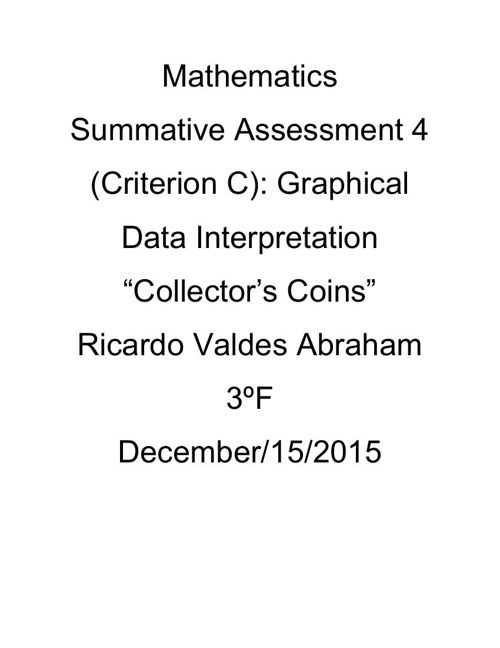 MathematicsCriterionC