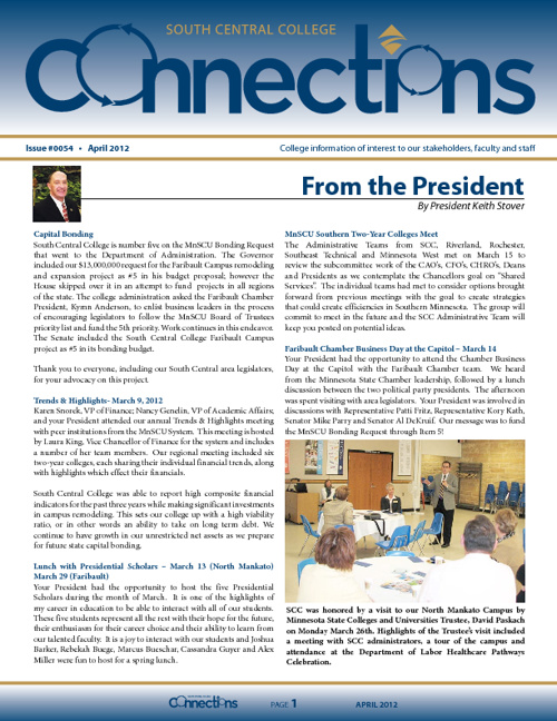 APRIL 2012 Connections Newsletter