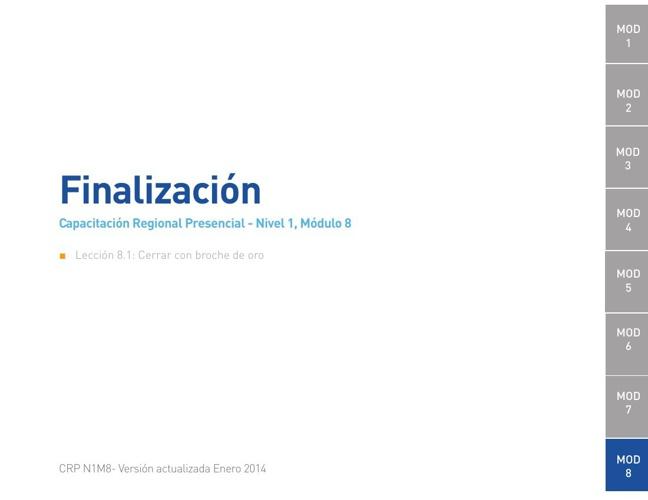 Módulo 8 - Finalización