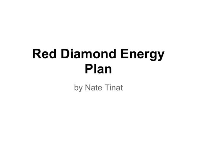 Red Diamond Summary Flipbook by Nate Tinat