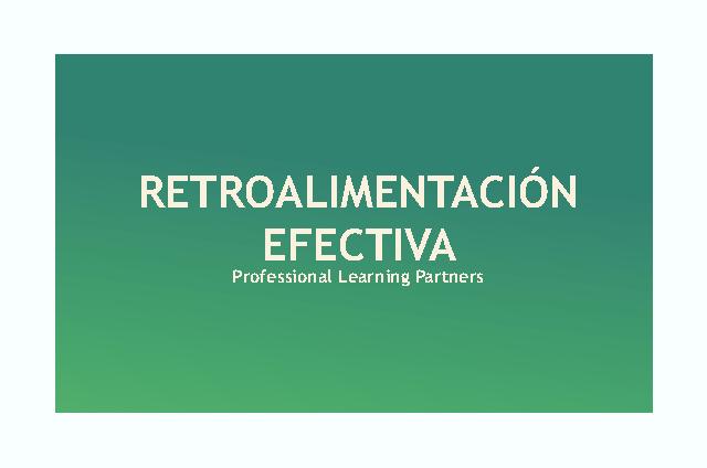 """Webinar """"Retroalimentación Efectiva"""""""