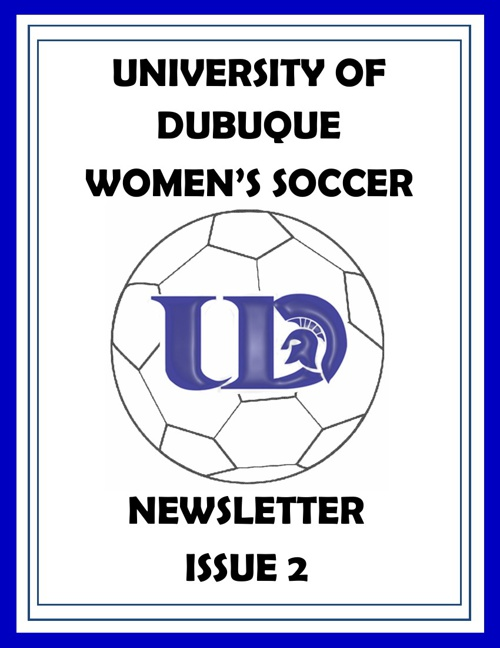 UD Women's Soccer Newsletter Issue 2