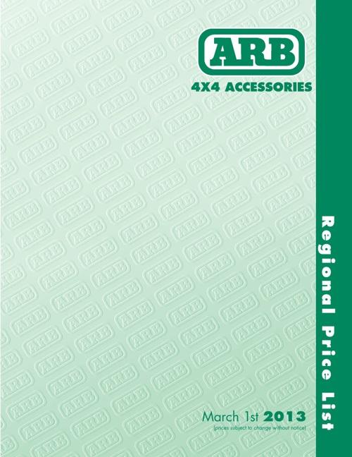 ARB Product List 2013