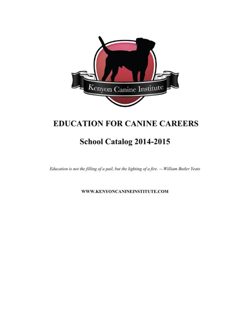 KCI College Catalog for Ongoing Education