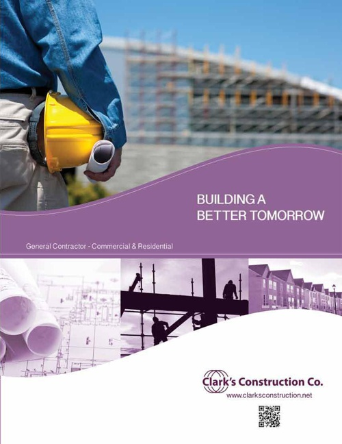 Clark's Construction Booklet/Brochure