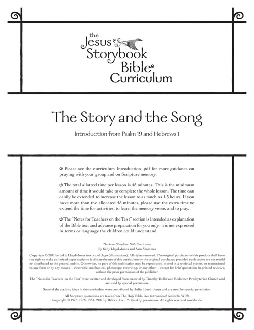 Lesson 1 - The Story and the Song