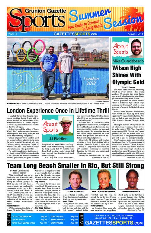 Gazette Sports | August 4, 2016
