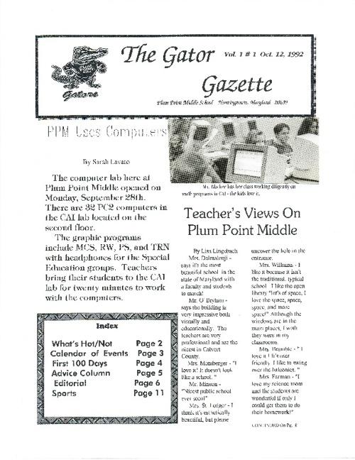 Gator Gazzette - Volume  1  # 1