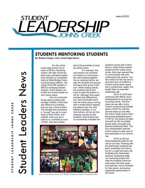 January 2015 SLJC newsletter
