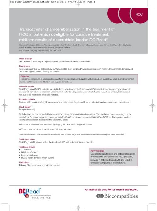 Clinical Summary:  Abdominal Imaging, Malagari