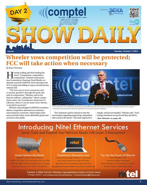 Comptel Plus (Fall 2014) - Day 2 Show Daily