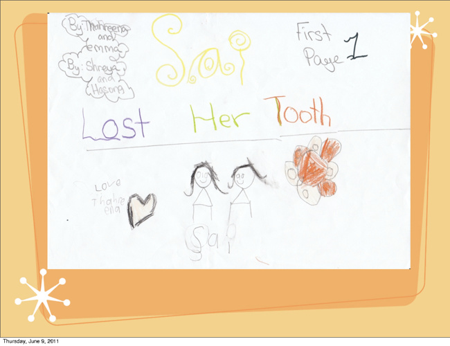 Sai lost her tooth by Shreya, Hasong Tharena