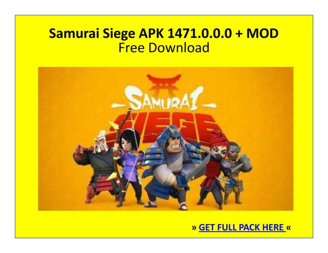 Samurai Siege 1471.0.0.0 APK + MOD | FREE DOWNLOAD