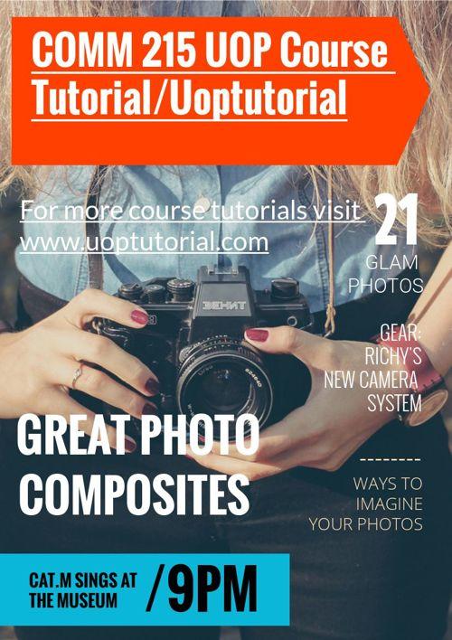 COMM 215 UOP Course Tutorial/Uoptutorial