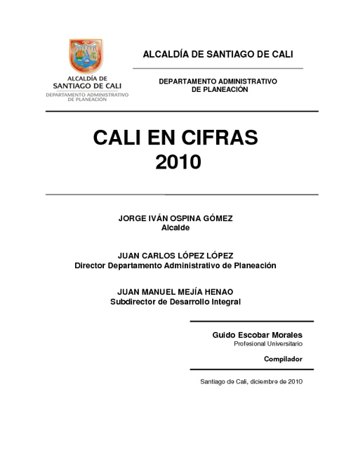 CALI EN CIFRAS 2010