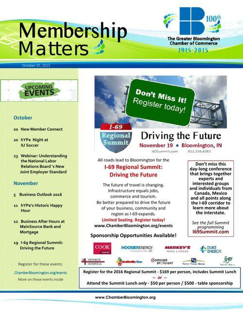 Membership Matters for October 15