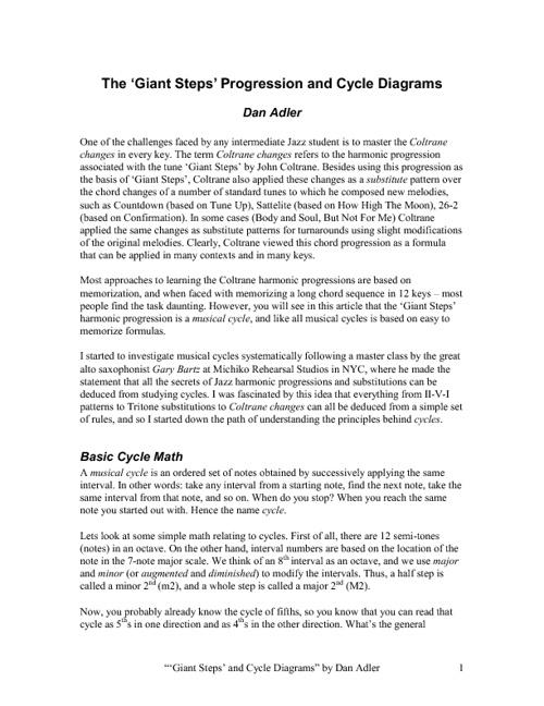 Jazz Chord Cycles