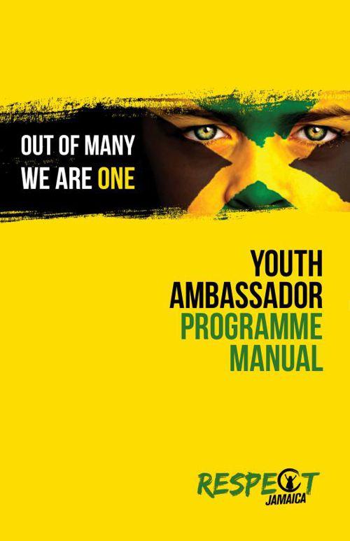 YOUTH AMBASSADOR PROGRAMME MANUAL-June2015