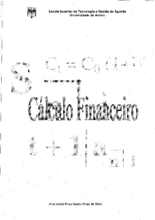 Sebenta Cálculo Financeiro