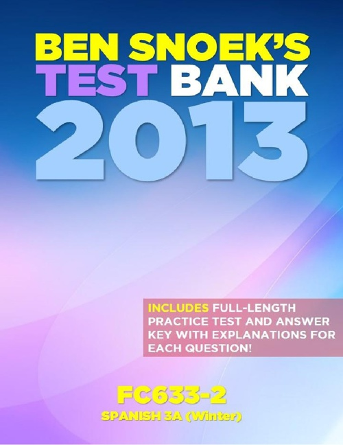 Test Bank 2013 | FC633-2