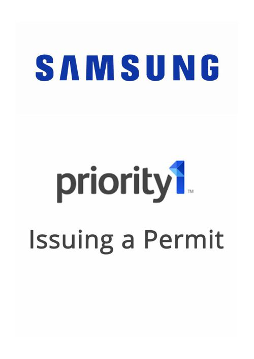 Priority 1 - Issuing a Permit