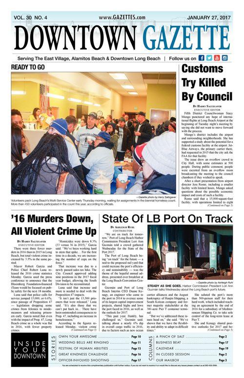 Downtown Gazette     January 27, 2017