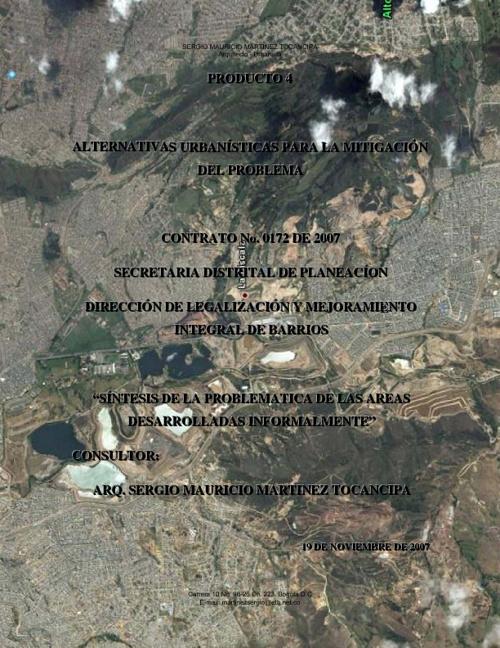 Retrospectiva de asentamientos informales en Bogotá