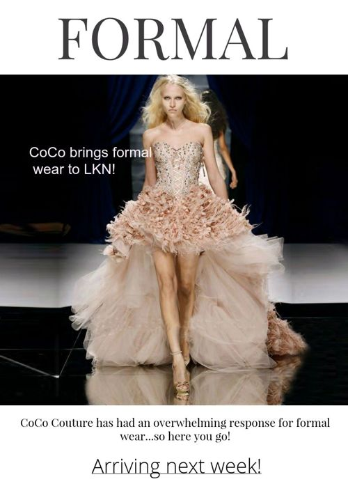 CoCo Couture launches FORMAL wear