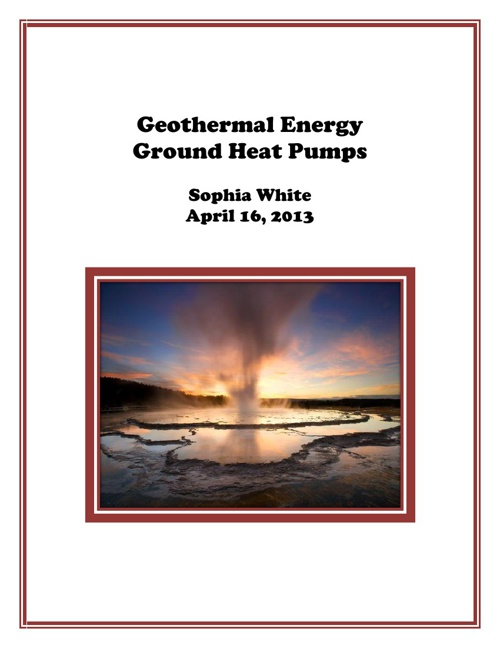 Geothermal Engery